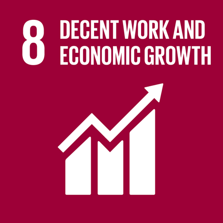 Textual image showing: Decent work and economic growth